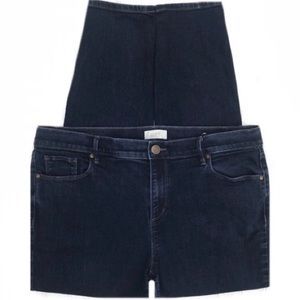 LOFT Modern Skinny Dark Wash Stretch Jeans